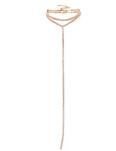 Kadın's Gerdanlıklar Sentetik Pırlanta Kristal Eşsiz Tasarım Bikini Mücevher Uyumluluk Düğün Parti Günlük