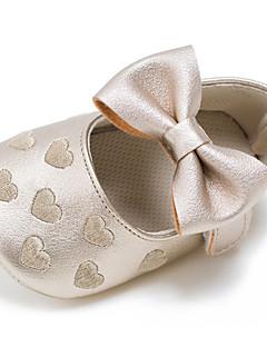 olcso Koszorúslány cipők gyermekeknek-Lány Cipő Bőrutánzat Tavasz / Ősz Első cipő Lapos Csokor / Tépőzár mert Gyermek Esküvő / Hétköznapi / Szabadtéri Zöld / Kék / Rózsaszín