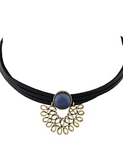 Kadın's Gerdanlıklar Basic Tasarım Siyah Mücevher Için Günlük 1pc