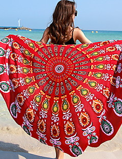 Χαμηλού Κόστους Πετσέτα Παραλίας-Γυναικεία Καθημερινό Πολυεστέρας Όλες οι εποχές,Ορθογώνιο Πορτοκαλί Ρουμπίνι Βαθυγάλαζο Βυσσινί Φούξια