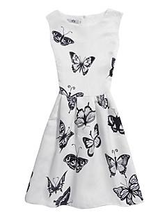 billige Vintage-dronning-Dame Vintage Bomuld Bukser - Blomstret Hvid / Ferie / Strand