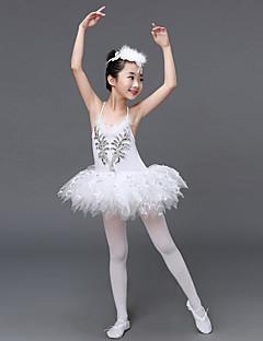 Zullen wij balletjurken dragen van de prestatie-tule ruffles jurk hoofdstuk