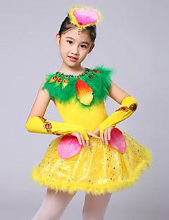 Zullen we balletjurken van 4-stukjes van de prestatieveren van de kind dragen