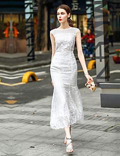 Χαμηλού Κόστους BLUEOXY-Γυναικεία Γραμμή Α Φόρεμα - Μονόχρωμο Μακρύ