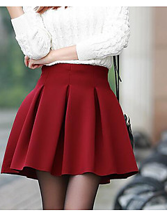 Women's Going out Mini Skirts A Line Solid Fall Winter