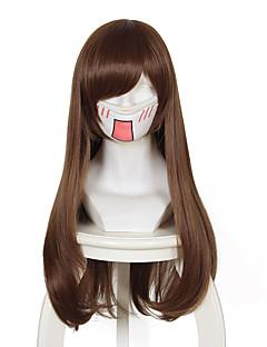 Overwatch D.Va Brown Long Anime Cosplay Wigs Wholesale Resale