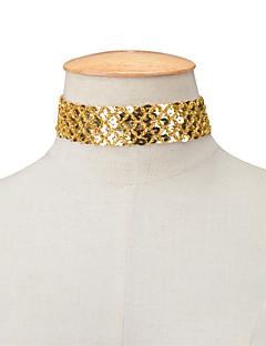 Kadın's Gerdanlıklar Mücevher Tek Dizi Moda Kişiselleştirilmiş Euramerican Altın Siyah Gümüş Mücevher Için Parti Özel Anlar Günlük 1pc
