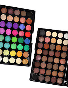 40 Colors  Eyeshadow,  2PCS Mixed Color Sery Palettes in 1 Pack Øyenskygger Tørr Matt Glans Damer og Herrer Dame ØyneLangtidsvarende Mote