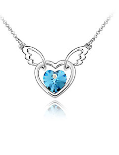 cheap -Women's Crystal Pendant Necklace  -  Personalized Love Heart Dark Blue Light Blue Light Green Necklace For Wedding Party Congratulations