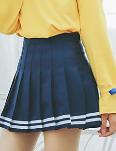 Χαμηλού Κόστους Mini Skirt-Γυναικεία Φούστα Φούστες - Συμπαγές Χρώμα, Μοντέρνο Στυλ