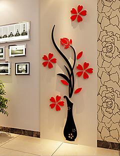 Χαμηλού Κόστους Christmas Stickers-Χριστούγεννα Ρομάντζο Άνθη Αυτοκολλητα ΤΟΙΧΟΥ 3D Αυτοκόλλητα Τοίχου Διακοσμητικά αυτοκόλλητα τοίχου,Βινύλιο Υλικό Αρχική Διακόσμηση Wall