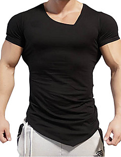 Men's Sports Casual/Daily Simple T-shirt,Print Round Neck Short Sleeves Cotton