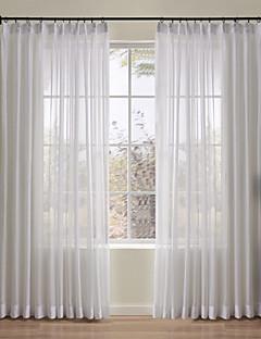 billige Gjennomsiktige gardiner-Stanglomme Propp Topp Fane Top Dobbelt Plissert To paneler Window Treatment Moderne Designer Europeisk Barokk Rokoko Middelhavet