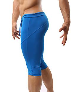 billiga Träning-, jogging- och yogakläder-Herr Joggingshorts - Svart, Grön, Blå sporter Shorts / 3/4 Strumpbyxor / Badkläder Fitness, Gym, Träna Sportkläder Andningsfunktion, Snabb tork, Fuktgenomtränglighet Hög Elasisitet