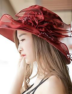 Χαμηλού Κόστους Breezy & Chic Straw Hats-Γυναικεία Σιφόν Στάμπα - Καπέλο ηλίου / Καλοκαίρι