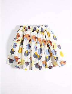 זול בגדי ילדים אופנתיים-חצאית כותנה קיץ יום יומי\קז'ואל דפוס-בנות