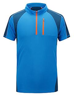 billige Løbetøj-Herre Løbe-T-shirt Kortærmet Åndbart, Bekvem, Svedreducerende T-Shirt / Toppe for Fiskeri / Træning & Fitness / Fritidssport Elastin Lys