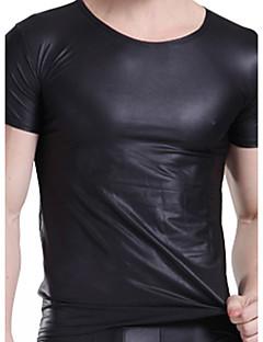お買い得  メンズアンダーウェア&水着-男性用 スーパーセクシー アンダーシャツ - ソリッド 1BOX