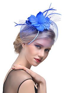 billige Trendy hårsmykker-Dame Hatt لون واحد Mesh Elegant Mote Hårklemme Perle