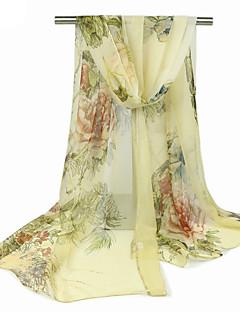 Women's Chiffon Rectangle,Cute Casual Print Spring Summer Fall Winter All Seasons