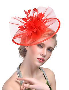 billige Trendy hårsmykker-Dame Hatt لون واحد Mesh Elegant Mote Hårklemme Akryl