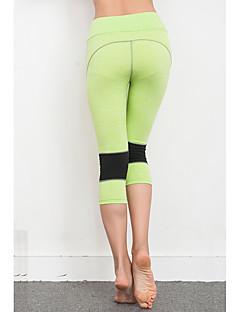 billige Løbetøj-Dame Løbebukser Hurtigtørrende, Åndbart, Blød 3/4 Tights Yoga / Campering & Vandring / Træning & Fitness Polyester, Terylene Lys pink /