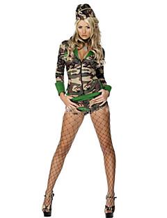 Soldat/Kriger Cosplay Kostumer Kvinnelig Halloween Karneval Festival / høytid Halloween-kostymer Kamuflasje Mote