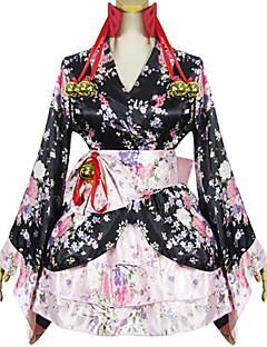 和ロリータ プリンセス 伝統風 女性用 女の子 着物 コスプレ 長袖 ショート / ミニ