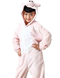 billige Kigurumi-Kigurumi-pysjamas Grisunge/gris Onesie-pysjamas Kostume Flanell Fleece Rosa Cosplay Til Barne Pysjamas med dyremotiv Tegnefilm Halloween