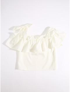 T-Shirt Lässig/Alltäglich einfarbig Baumwolle Sommer Kurzarm