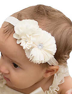 cheap Kids' Accessories-Unisex Hair Accessories, All Seasons Tweed Chiffon Headbands - White Blushing Pink Beige Purple