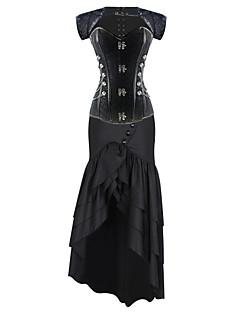 Dámské Korzet Noční prádlo Sexy Retro Tisk-Bavlna Střední Dámské