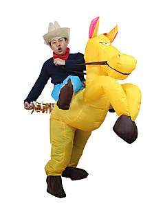 billige Halloweenkostymer-Hest Cosplay Kostumer Oppblåsbart kostyme Halloween Utstyr Film-Cosplay Gul Trikot / Heldraktskostymer Air Blower Jul Halloween Karneval