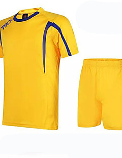 Unisexe Football Ensemble de Vêtements/Tenus Respirable Vestimentaire Confortable Printemps Eté Automne Couleur Pleine FootballVert Bleu