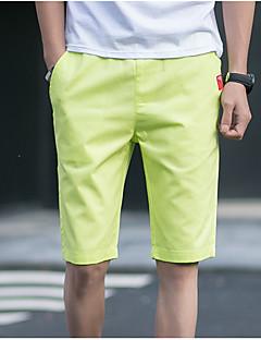hesapli Erkek Pantolonlar-Erkek Günlük Klasik & Zamansız Düz Chinos Pantolon Solid Tek Renk