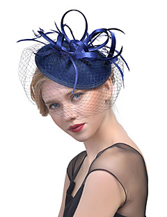 Women's Fabric Hair Clip,Hat Solid Color Mesh All Seasons