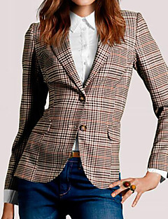 Women's Daily Simple Casual Summer Fall Jacket,Print V Neck Long Sleeve Regular Cotton