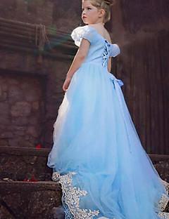 Mädchen Kleid Ausgehen Lässig/Alltäglich Schule einfarbig Baumwolle Polyester Ganzjährig Kurzarm