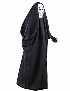 Angel / Devil Cosplay Costume Movie Cosplay Black Coat Mask Halloween New Year PVC Cotton