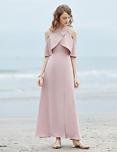 hesapli MASKED QUEEN®-Kadın's Kumsal Vintage Çan Elbise - Solid Düşük Omuz Maksi