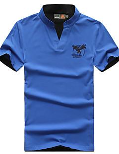남성용 하이킹 T-셔츠 통기성 티셔츠 탑스 용 캠핑 & 하이킹 피싱 여름 M L