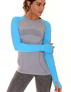 女性のスリムで快適な長袖Tシャツの速乾性フィットネススポーツトップス