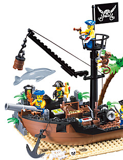 cheap -ENLIGHTEN Building Blocks Model Building Kit Pirate Ship Pirates compatible Legoing Boys' Girls' Toy Gift
