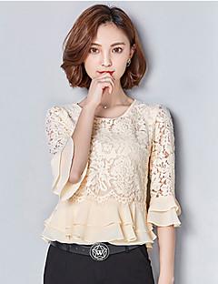billige AW 18 Trends-Polyester T-skjorte - Ensfarget Broderi Dame
