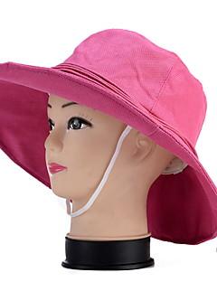 billige Trendy hatter-Dame Vintage Søtt Fest Kontor Fritid Stråhatt Solhatt,Vår Sommer Høst Alle årstider Ensfarget Bomullsblanding Hvit Svart Beige Grå Fuksia