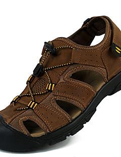 hesapli -Erkek Ayakkabı Deri Bahar / Yaz Rahat Sandaletler Rahat Kır Ayakkabıları Günlük / Ofis ve Kariyer / Dış mekan için Açık Kahverengi
