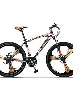 billiga Cykling-Mountainbikes Cykelsport 27 Hastighet 26 tum / 700CC SHIMANO TX30 Dubbel skivbroms Suspension Fork Icke-dämpning Vanlig Aluminiumlegering / Stål