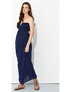 Women's Cut Out|Backless Party Sexy Sheath Dress,Solid Strapless Maxi Sleeveless All Seasons High Rise