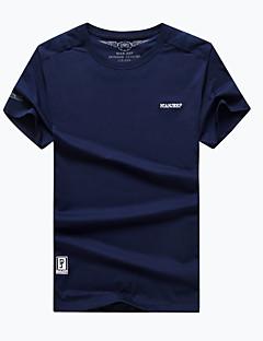 Homens Camiseta de Trilha Secagem Rápida Respirável Camiseta Blusas para Acampar e Caminhar Pesca Verão L XL XXL XXXL XXXXL