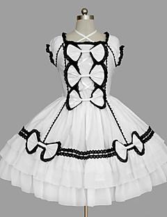 甘ロリータ プリンセス 女性用 女の子 ワンピース ドレス コスプレ キャップ ノースリーブ ショート / ミニ